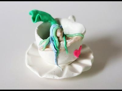 Miniature Mermaid in a Mug - Polymer Clay Tutorial ✎