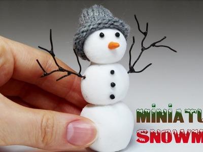 Miniature Snowman - Polymer Clay Tutorial