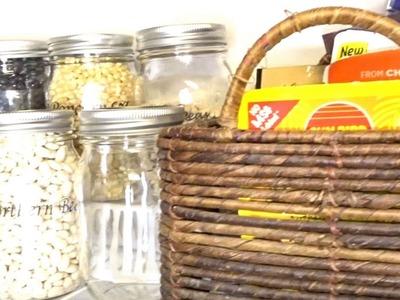 Organization DIY + Home Decor Challenge  (Pantry Organization)