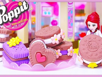 Poppit Cookies Biscuits DIY Clay with Lego Friends Silly Play Kids Toys