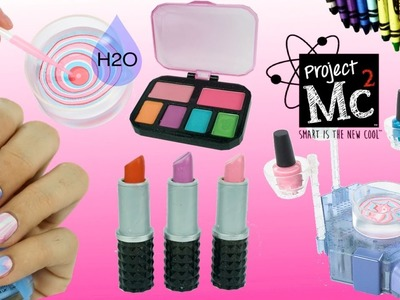 Project Mc2 Beauty Experiments H2O Nail Kit DIY Crayon lipsticks Lip Balms