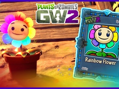 RAINBOW FLOWER! - New Heal Flower Ability | Plants vs. Zombies: Garden Warfare 2