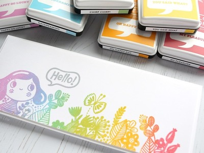 Rainbow Stamping with Dye Inks