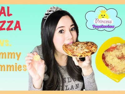 Real Food vs Yummy Nummies! Mini Kitchen Magic Pizza Party Maker DIY Kit for kids ToysReview