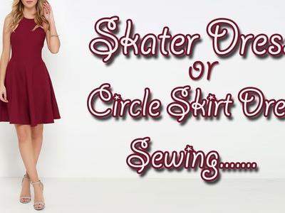 Skater Dress.  Circle Skirt Dress Sewing