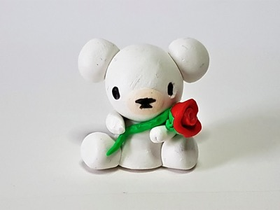 Valentine's Day Teddy Bear -♥- Polymer Clay Tutorial