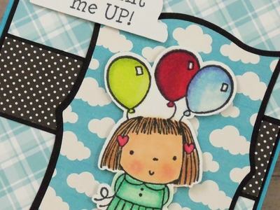 """YOU LIFT ME UP!"" THANK YOU CARD ~ PAPER PLAY SKETCH #31"