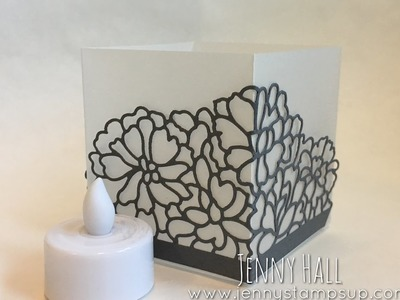 A 3D luminarie project for people that don't make 3D projects using Stampin Up products with Jenny H