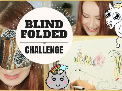 Art Challenge: Blindfolded Drawing Challenge! Let's draw a UNICORN! Or at least try.  | Makoccino