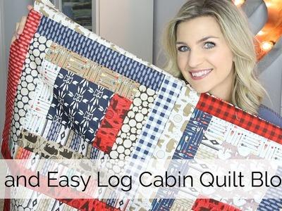 Beginner Log Cabin Quilt Block Tutorial