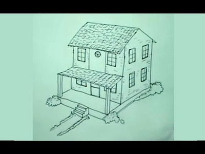 Cómo dibujar una casa paso a paso 2.4 - How to draw an easy house
