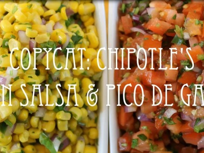 Copycat Series | Chipotle's Corn Salsa & Pico de Gallo