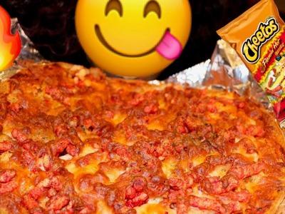 DIY FLAMING HOT CHEETOS CHICKEN PIZZA (LIT EDITION)