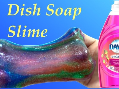DIY How To Make Dish Soap Galaxy Slime Without Baking Soda,Borax, Liquid Starch or Shaving Cream