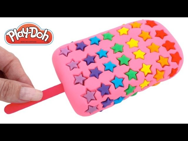 DIY How to Make Play Doh Star Popsicle Modelling Clay Learn Colors RL