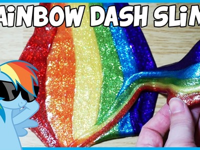 DIY | Rainbow Dash Inspired Slime! #Slimerday