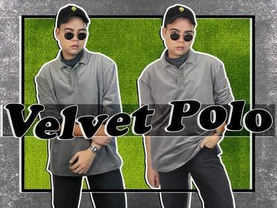 DIY: Velvet Polo Shirt