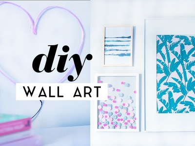 DIY Wall Art Room Decor Pieces | Gallery Wall Ideas 2017