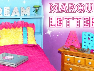 Doll Marquee Letters | How To Make American Girl Doll Crafts