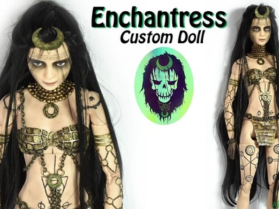 Enchantress inspired Doll. Barbie Repaint ( Suicide Squad )