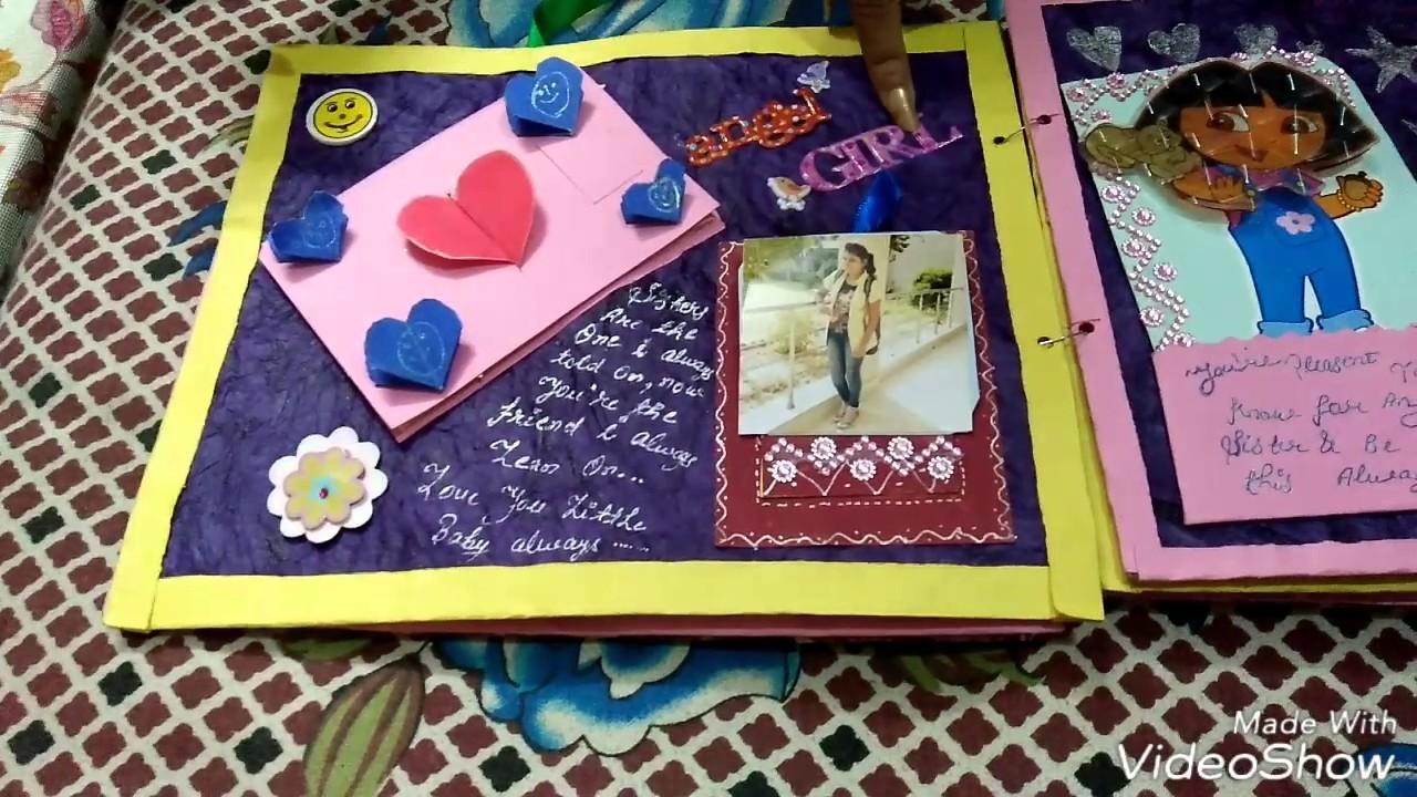 Handmade scrapbook gift from my lovely sister