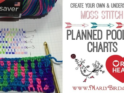 How to Create Crochet Planned Pooling Charts for Moss Stitch