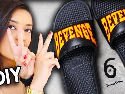 How To: Drake Summer Sixteen Tour Revenge Shoes | Nike Slide Custom Tutorial