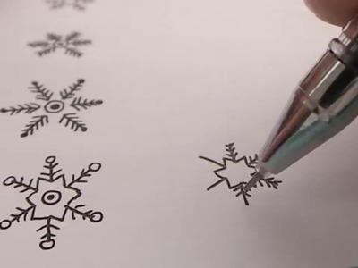 How to draw snowflakes | Cách vẽ bông tuyết đơn giản