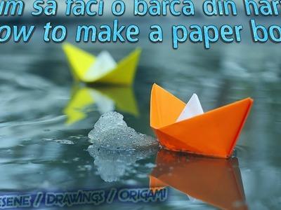 How to make a paper boat. Cum sa faci o barca din hartie  ( origami )