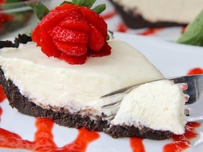 How to Make Easy No-Bake White Chocolate Cheesecake