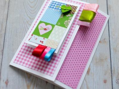 How to Make - Greeting Card Valentine's Day - Step by Step DIY | Kartka Walentynkowa