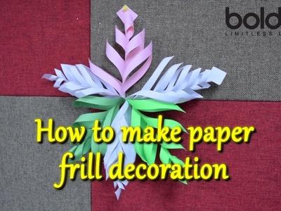 How to make paper frill decoration | DIY | Art & craft | Boldsky