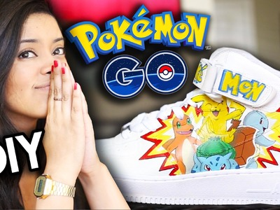 HOW TO: Pokemon Go Custom Shoes | Full Angelus Paint Timelapse Tutorial