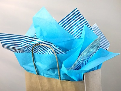 How To Put Tissue In A Gift Bag - Gift Wrapping Tutorial - Easy Quick Gift Wrapping