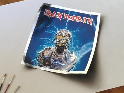 Iron Maiden and Derek Riggs Tribute - Eddie 3D Painting on Canvas