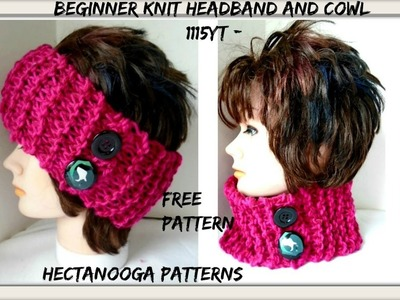 KNITTING PATTERN, BEGINNER HEADBAND OR COWL, (Requested by Jennie Lynn), (learn: pencil knit)