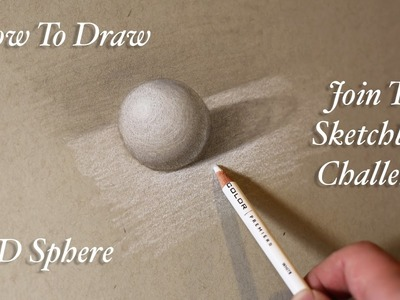 Learn How To Draw - Exercise #4 3D sphere, toned paper - Tim Gagnon Sketchbook Challenge