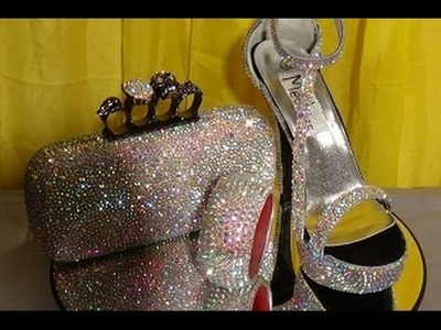 """Mechies Shoes: """"BLING MY PROM SET 1"""" Customized Rhinestone Shoes with KNUCKLE CLUTCH & FREE BRACELET"""