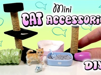 Miniature Cat Accessories Tutorial. DIY Dolls.Dollhouse