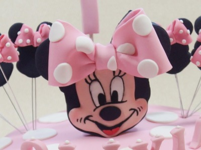 Minnie Mouse Face Cake Topper - Max's Cake Studio