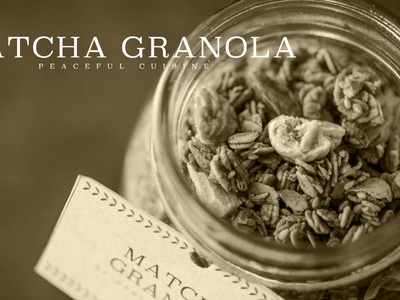 [No Music] How to make Matcha Granola