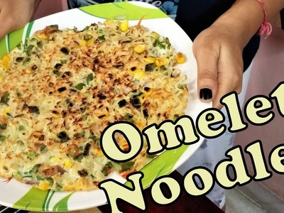 Omelet Noodles ,  DIY - a very easy to cook interesting recipe of omelet with noodles