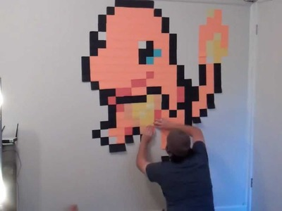 Pokemon: Charmander! Post It Note Wall Art [HD]