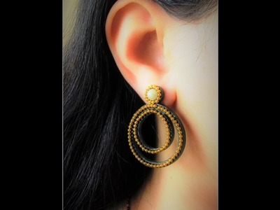 Quilling Chandbali Earring Tutorial. Design 4