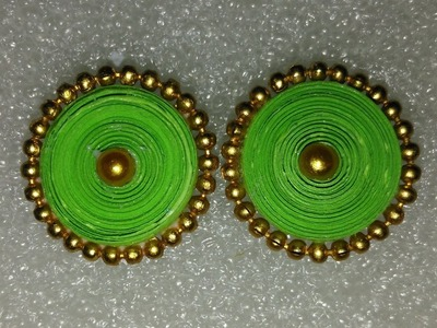 Simple Earring Studs with Quilling Paper