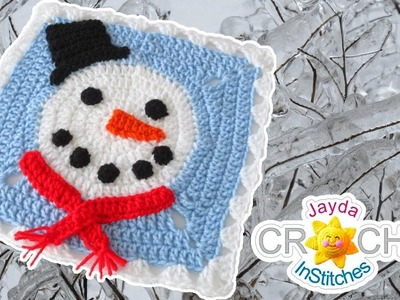 Snowman Square Motif - Blanket Square - January