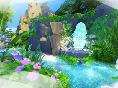 The Sims 4 Building. Calypso's Island Cave