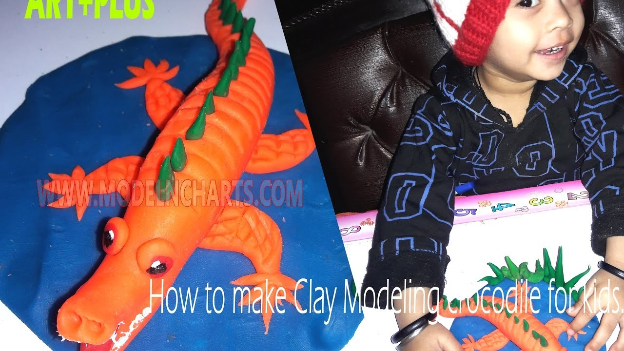 ART+PLUS - CLAY MODEL HOW TO MAKE C for CROCODILE WITH CLAY MODELING FOR KIDS AGE 4 PLUS : ART+PLUS