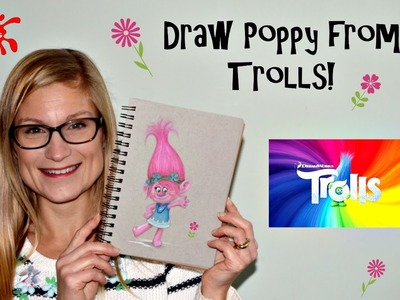 ArtCadets: How to draw Poppy from the Trolls movie using pastels