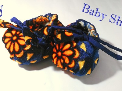 Baby shoes sewing tutorial | How to make baby shoes with fabric very easy tutorial